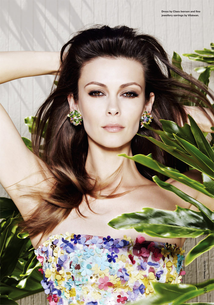 actress Olga Fonda in a close up for Lucire Magazine