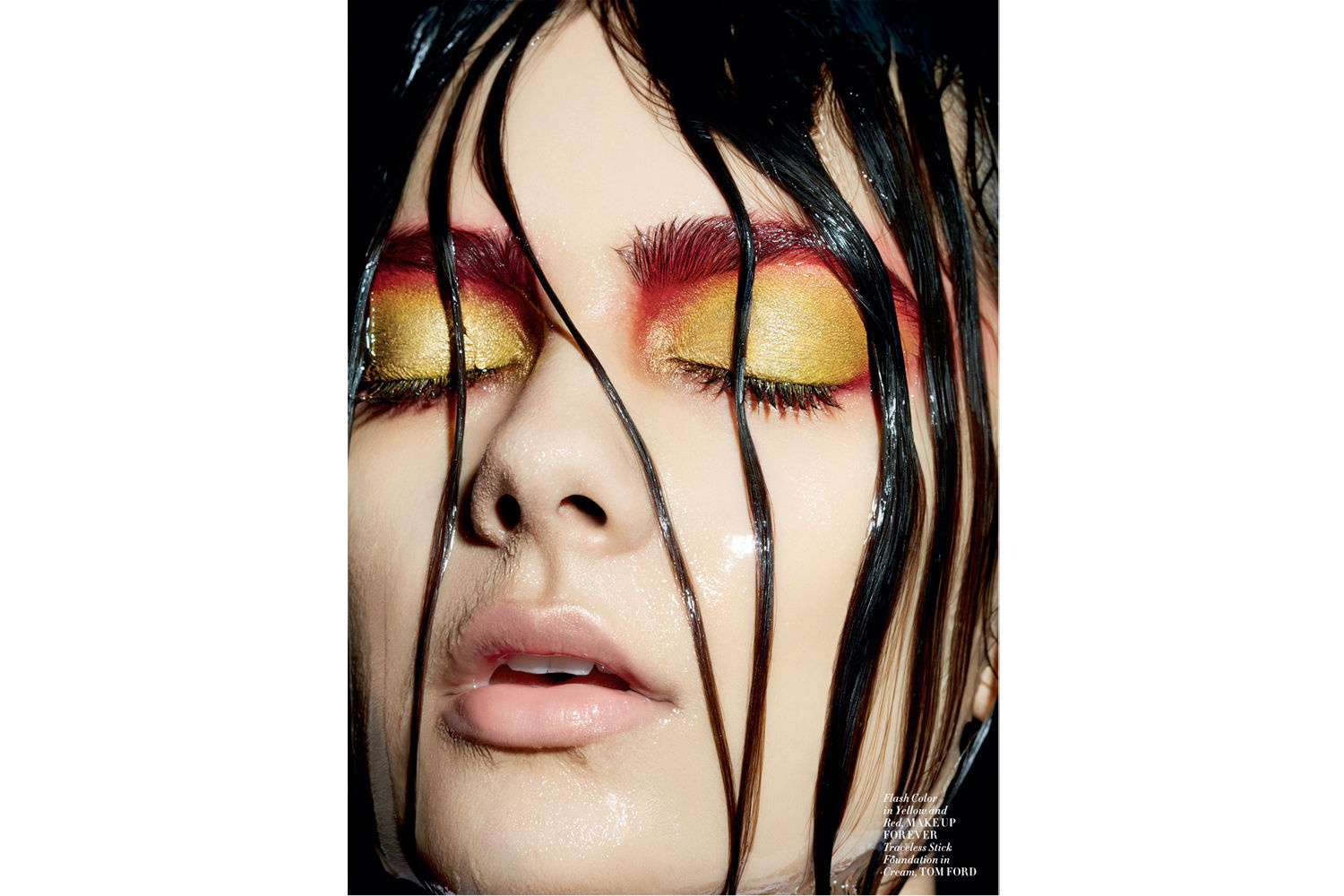Beauty Photographer Dorit Thies shot this beauty layout for L'Officiel Magazine ID